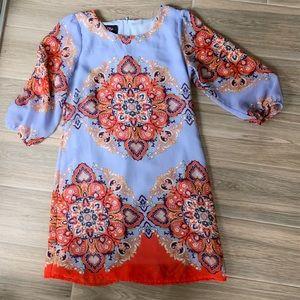 Girls chiffon paisley ALine Dress sz12